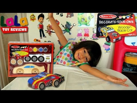 Melissa and Doug Wooden Race Car Set