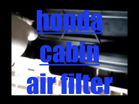 How to install replace the cabin air filter 2010 Honda Accord
