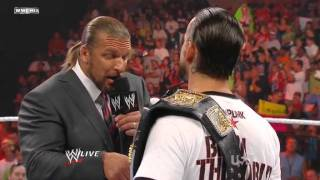 WWE Monday Night Raw 01 August 2011 | CM Punk Returns as WWE Champion [2/2]