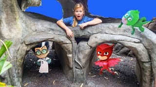 PJ Masks Hide N Seek in the Treehouse with Boat Racers with the Assistant