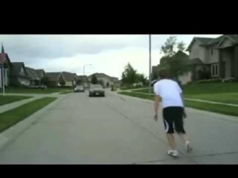 Jumping Over A Moving Car Like A Boss