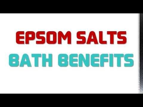 Salt bath benefits for Epsom salt in french