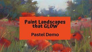 Paint Landscapes that GLOW! Pastel Landscape Demo