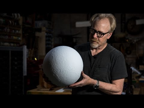 Adam Savage's New Moon Model Globe