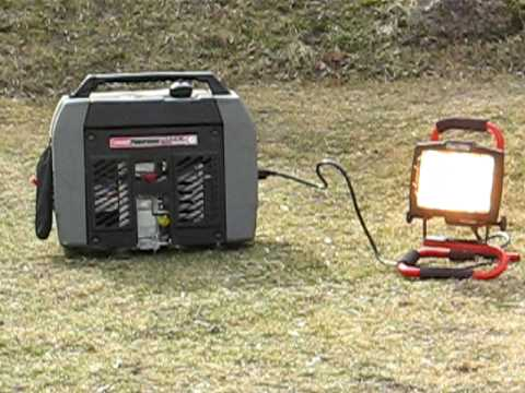 Coleman 1850 watt generator Noise review