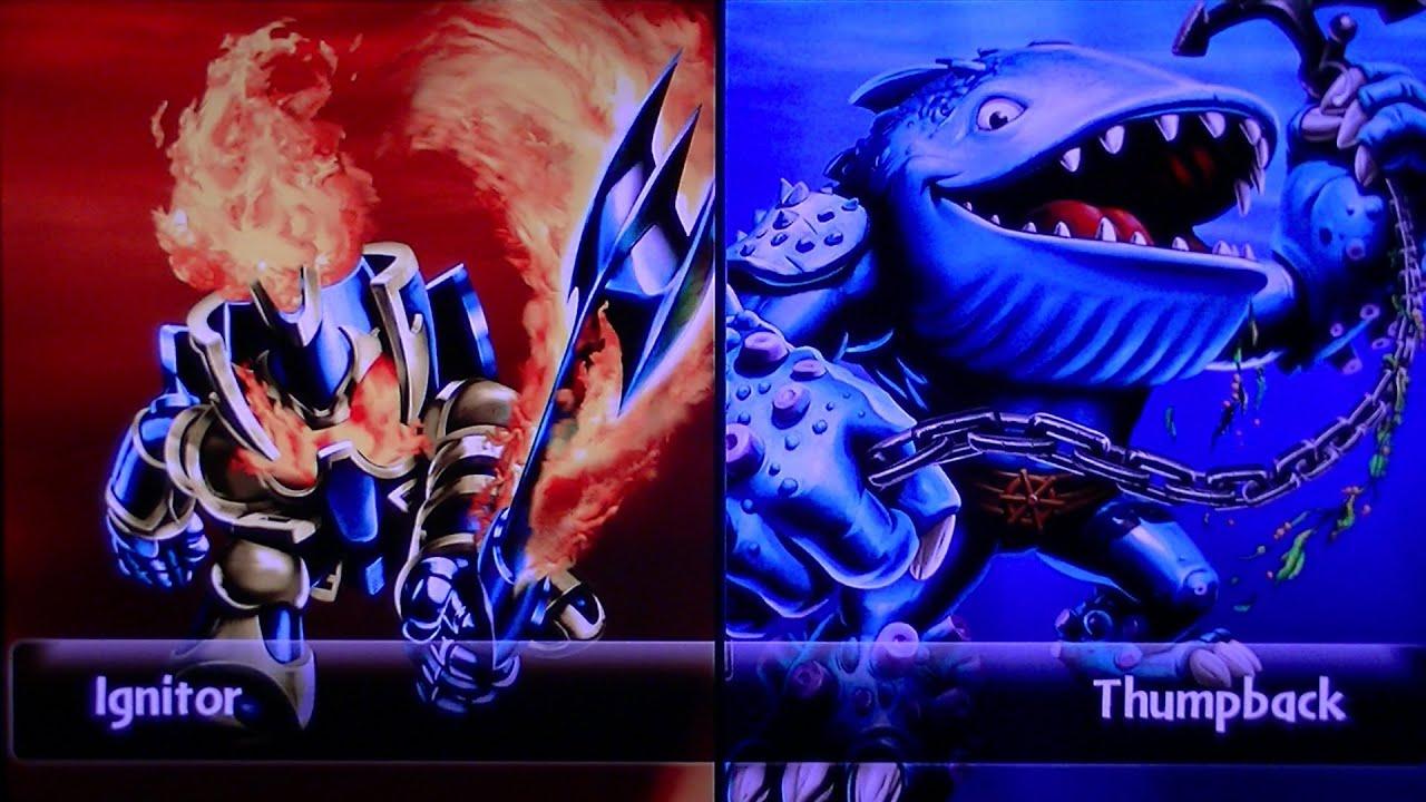 Skylanders giants legendary ignitor vs thumpback youtube - Skylanders thumpback ...