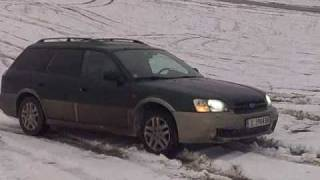 subaru outback on snow
