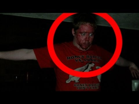 Ghost - Demon possessed man bleeds from face