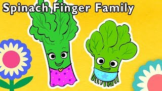 Spinach Finger Family and More   🥬 YUMMY VEGGIE SONG 🥬   Nursery Rhymes from Mother Goose Club!