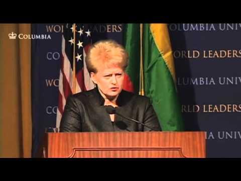President of the Republic of Lithuania, Dalia Grybauskaitė