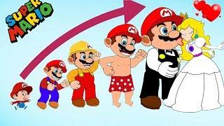 Cartoon Super Mario Growing Up Compilation - Mario vs Bowser character vs Sonic, Pac man Baldi Basic