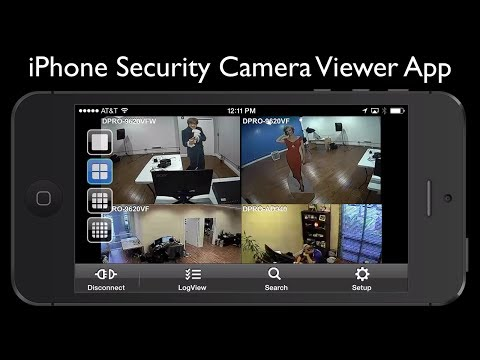 iPhone Security Camera Viewer App for iDVR-PRO CCTV DVRs