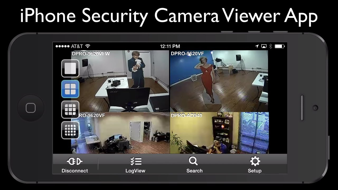 Iphone security camera viewer app for idvr pro cctv dvrs for Security camera placement software
