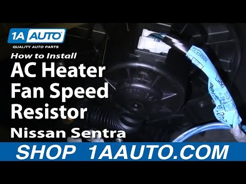 How To Install Replace AC Heater Fan Speed Resistor Nissan Sentra 00-06 1AAuto.com
