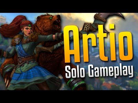 Smite: SO MANY ABILITIES!- Artio Solo Gameplay