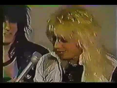 Motley Crue Gold Album Ceremony Interview 1984