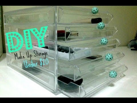 DIY Make Up Storage  Under $20