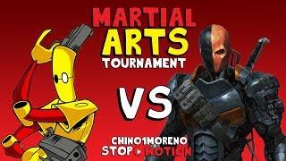 SCUD VS DEATHSTROKE STOP MOTION : Martial arts tournament