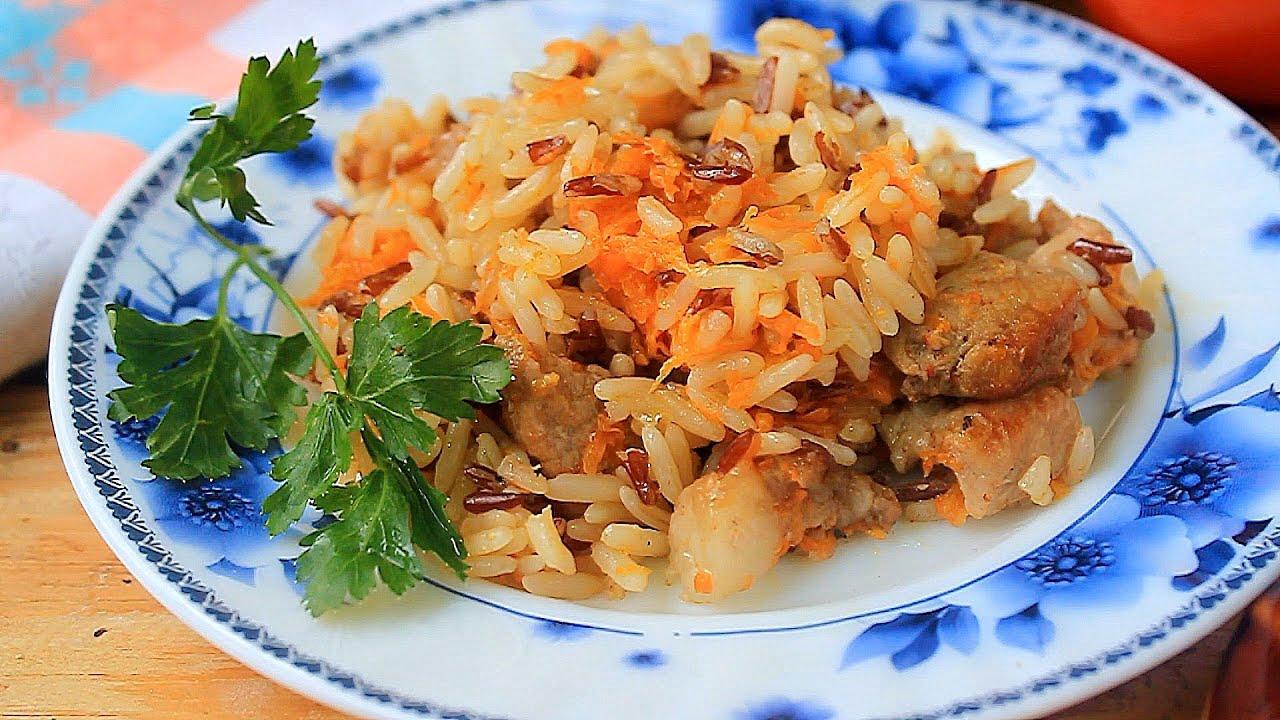 Рецепт риса с мясом в духовке пошагово фото