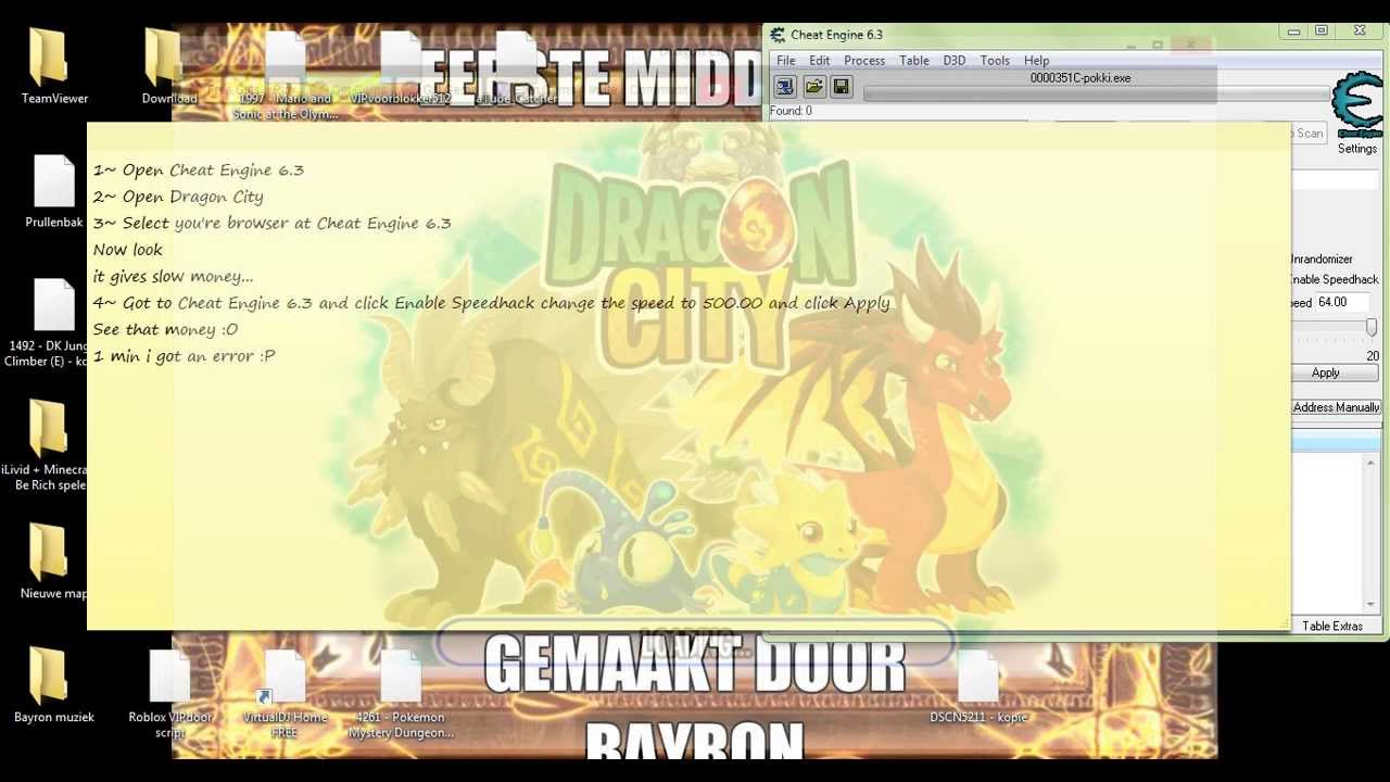 dragon city cheat engine free download for pc