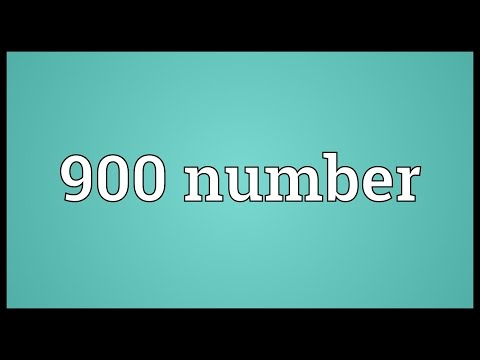 Header of 900 Number