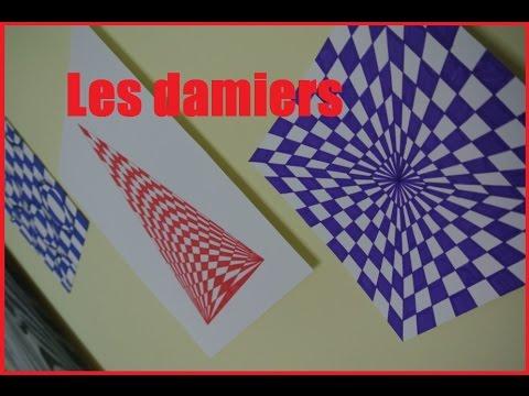Illusion d 39 optique damiers sharpie cendre arts for Illusion d optique peinture