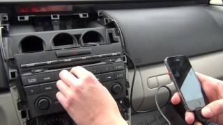 GTA Car Kits - Mazda CX7 2007, 2008, 2009, 2010, 2011, 2012 install of iPhone, iPod and iPad adapter