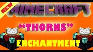 "What is NEW ""Thorns"" Enchantment - Minecraft 1.8"