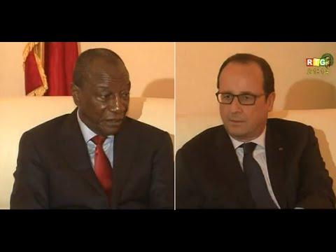 JT RTG DU 28 Novembre 2014. François Hollande est arrivé à Conakry