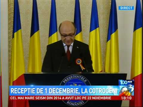 Traian Basescu: Mesaj de 1 Decembrie 2014 Ziua Nationala a Romaniei