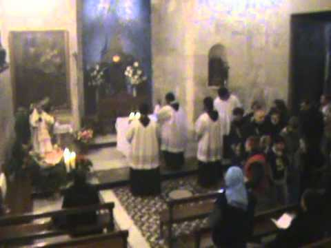 Fr.Jai ofm in Daily Procession at the Holy Sepulchre, Jerusalem