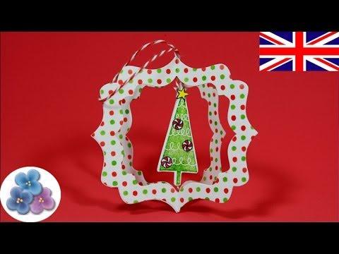 DIY Craft Christmas Decorations *Xmas Ornaments* Papercrafts Ideas Scrapbook Pintura Facil