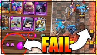 6.6 ELIXIR BATTLE RAM DECK - FAIL WARNING - Clash Royale