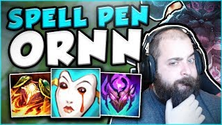 BUFFED ORNN IS SO BROKEN WITH THIS SPELL PEN BUILD! NEW BUFFED ORNN TOP GAMEPLAY! League of Legends