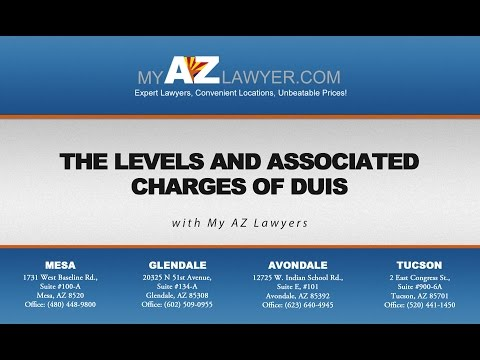The Levels and Associated Charges of DUIs