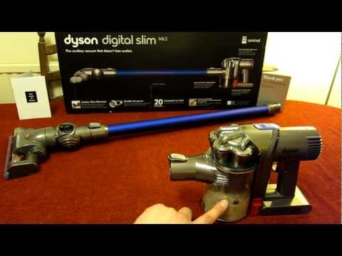 Using my Dyson Digital Slim Mk2 DC44 / DC45 Animal - First time & First emptying of the canister!