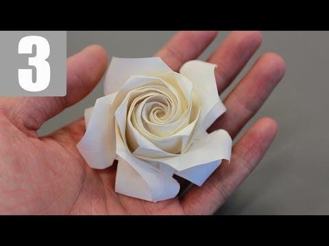Sato Naomiki Pentagon Origami Rose Tutorial