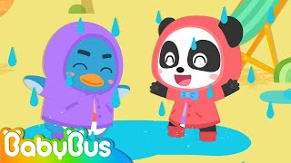 Heavy Rain! Run! Baby Panda | Get Dressed Song | Wear Clothes for Kids | Kids Good Habits | BabyBus