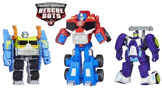 Rescue Bots Toys Optimus Prime, Salvage and Blurr | NEW Rescue Bots Toys 2015