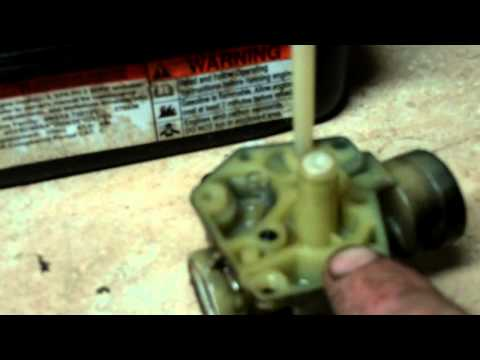 LAWN MOWER REPAIR     how to rebuild the carb on a 3.5 hp briggs and stratton pulsa jet carburetor