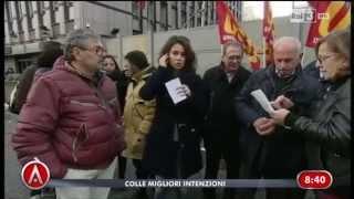 video Estratto del programma di attualità di RAI 3 Agorà, in collegamento con i lavoratori LSU, LPU e ASU italiani, in piazza sotto il Ministero del Lavoro per la ...