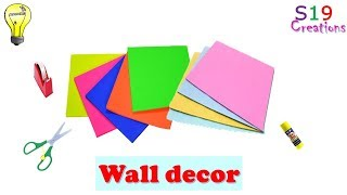 Easy paper craft ideas for wall decoration   diy room decor   paper crafts   diy arts and crafts