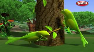 Download Lazy Parrots   हिंदी कहानी   3D Moral Stories For Kids in Hindi   Animal Stories in Hindi 3Gp Mp4