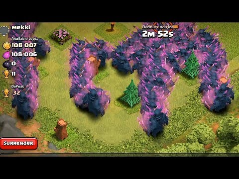 Clash of clans - PEKKA RAID 300 level 5 (Mass gameplay)