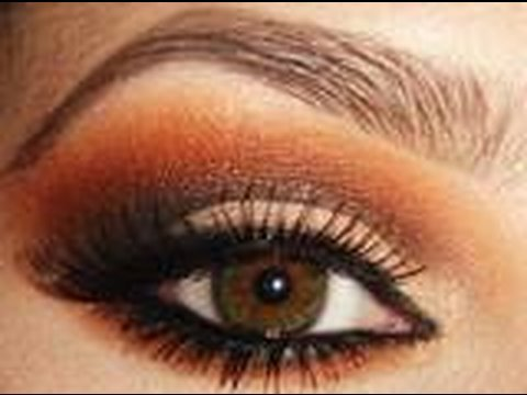 Orange Smokey Eye Shadow Tutorial