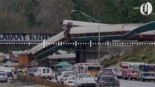 """We got cars everywhere, and down onto the highway"": Dispatch audio from Amtrak train derailment"