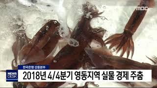 도권) 강원영동지역 실물경제 주춤