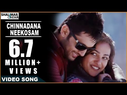 Ishq Movie || Chinnadana Neekosam Video Song || Nitin & Nithya...