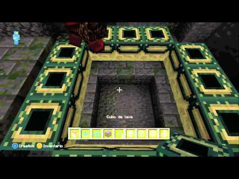 Minecraft Xbox 360   Como Hacer Un Portal Al End.