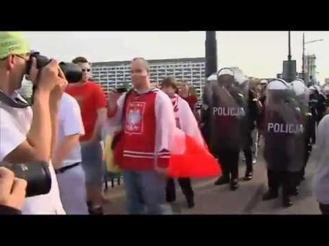 Euro 2012: Football Fans Fighting Highlights  Poland - Russia Hooligans